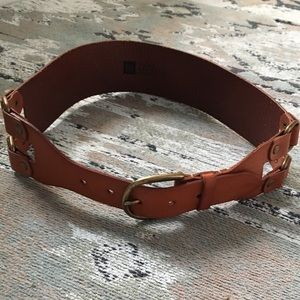 Leather Brown Buckle Rustic Hardware Belt S